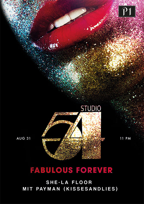 Studio 54 meets P1 Plakat