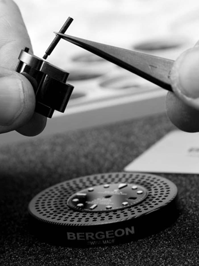 Blaken Uhren Handwerk Close Up