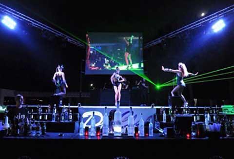 Club Nobilis Partybühne Aufführung